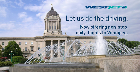 Let us do the driving. Now offering non-stop daily flights to Winnipeg